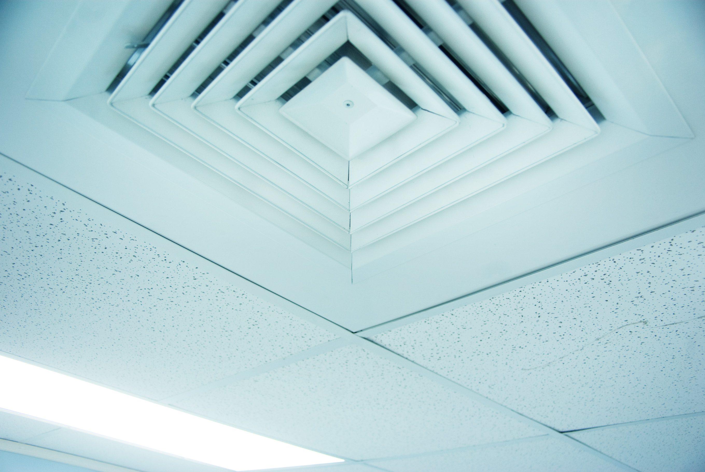 air conditioner vent close up in ceiling
