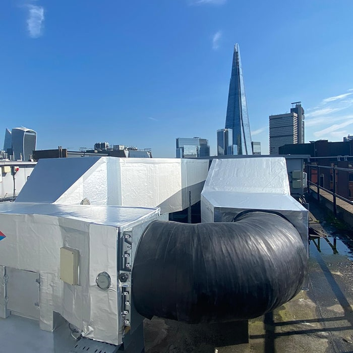 Rooftop Piping Insulation London System