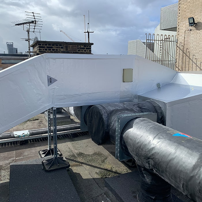 Rooftop Piping Insulation London Pipes