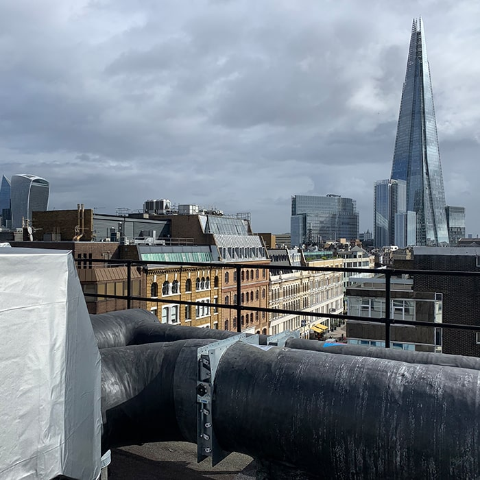 Rooftop Piping Insulation London System Shard