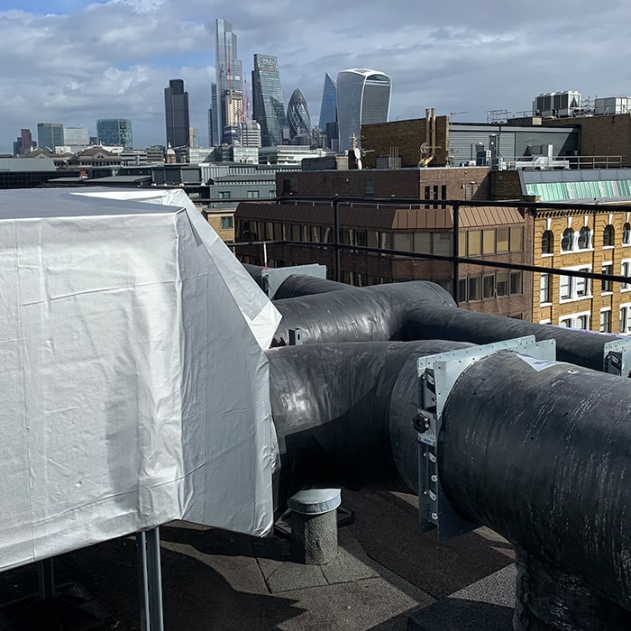 Rooftop Piping Insulation London System Back