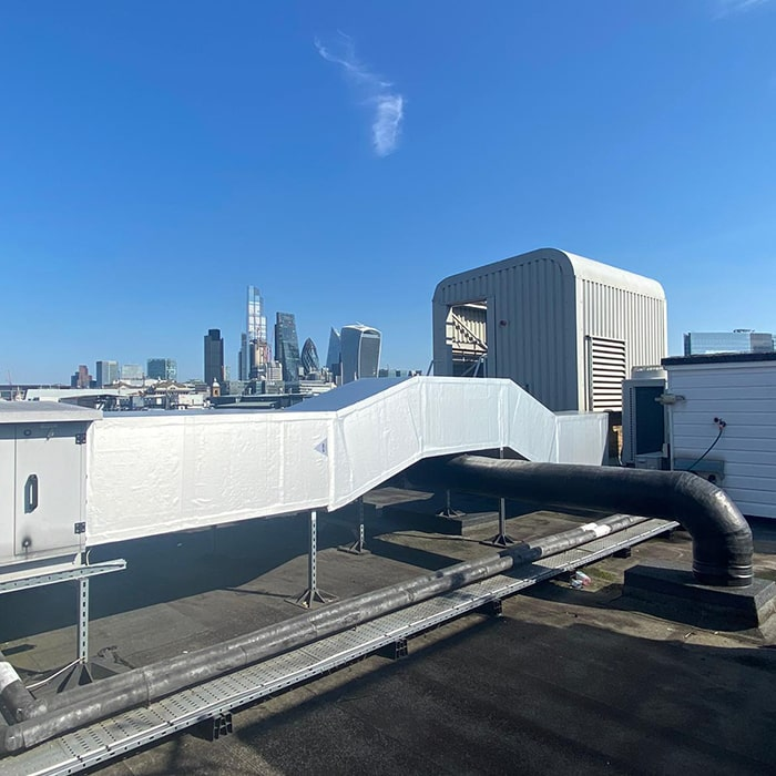 Rooftop Piping Insulation London After